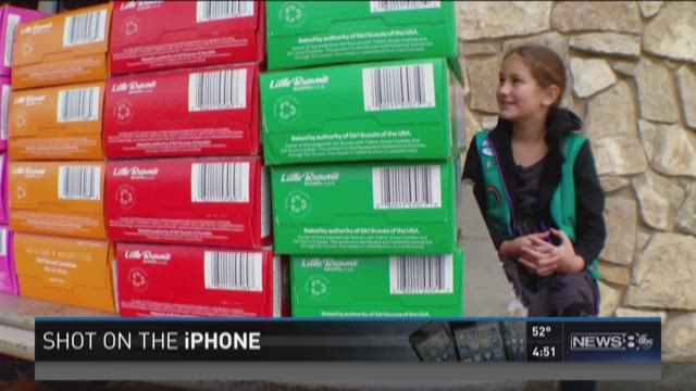 Girl's determination sells boxes of Scout cookies by the thousands