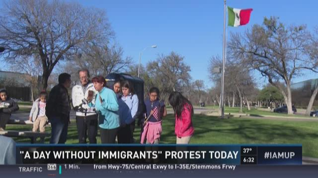 A Day With Immigrants protest on Thursday   WFAA.com