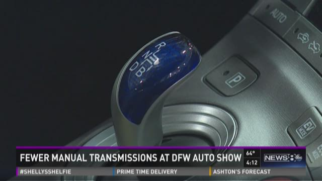 Fewer manual transmissions at DFW Auto Show