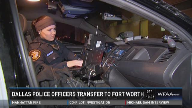 Dallas police officers transferring to Fort Worth