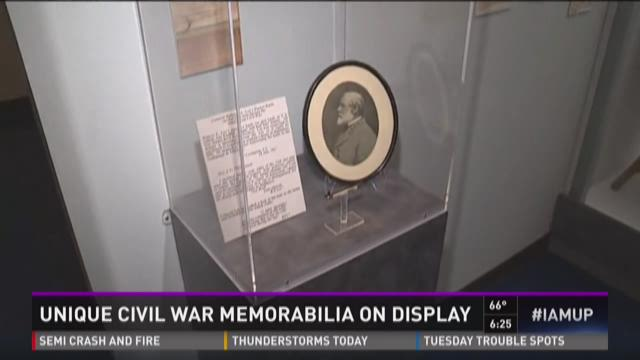 Unique Civil War memorabilia on display