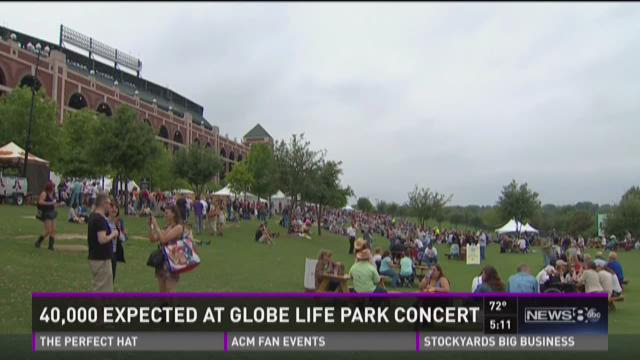 40,000 expected at Globe Life Park concert