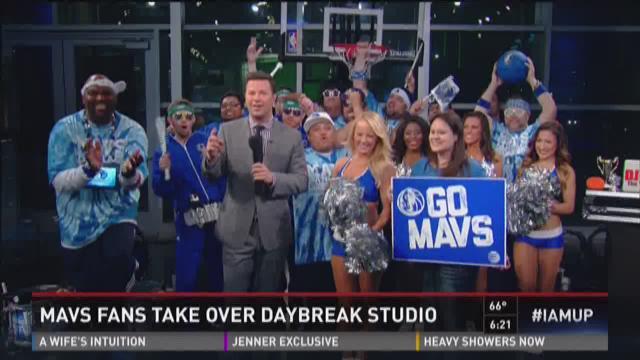 Mavs fans take over Daybreak studio