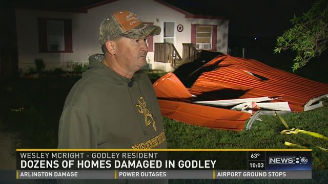 Dozens of homes damaged in Godley