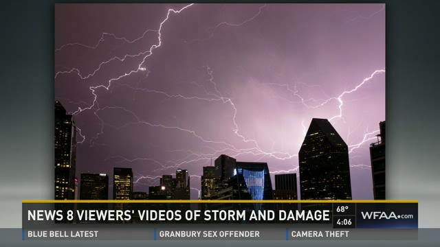 Channel 8 viewers were snapping photos and videos as Sunday's storms passed through the region.