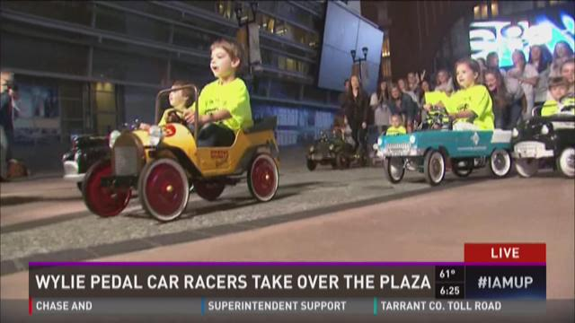 Wylie Pedal Car racers take over the Plaza