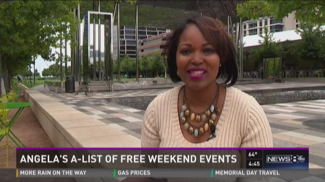 Angela's A-List of free weekend events