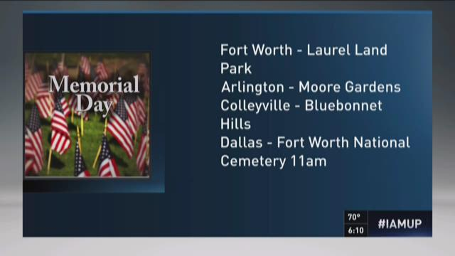 Memorial Day services in North Texas