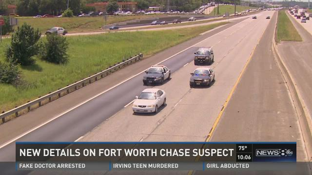 New details about Fort Worth chase suspect