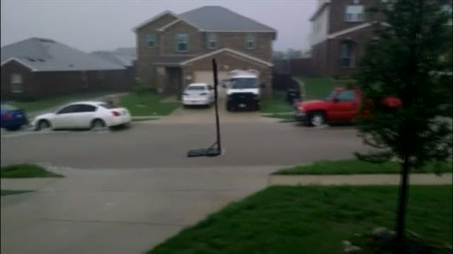 Floating basketball hoop in Saginaw