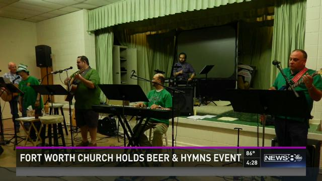 Fort Worth church holds beer & hymns event