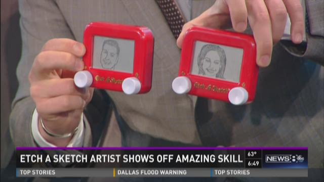 Etch A Sketch artist shows off amazing skill