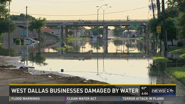 West Dallas businesses damaged by water