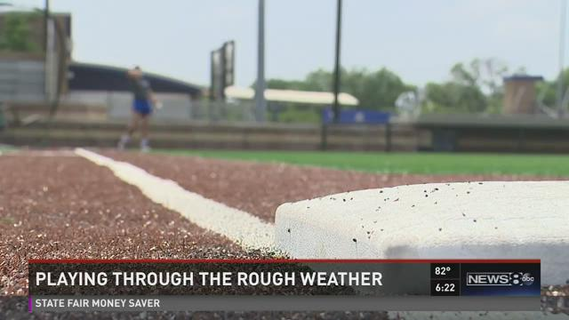 High schools play through rough weather