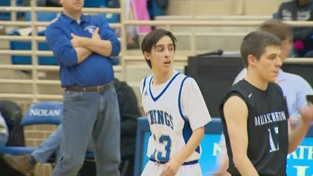 HS senior with rare illness plays in basketball game