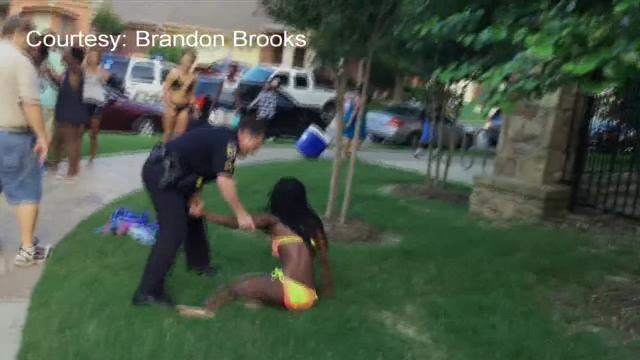 RAW VIDEO: Chaos at McKinney pool party