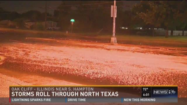 Storms roll through North Texas