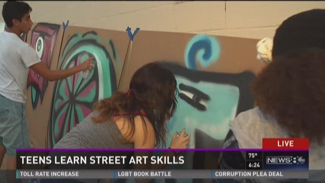 Teens learn street art skills with summer camp
