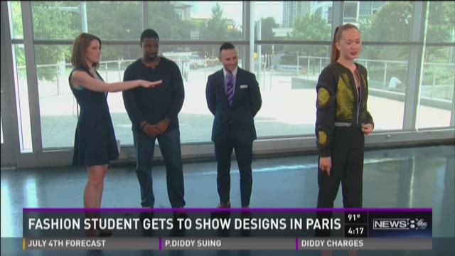 Fashion student gets to show designs in Paris
