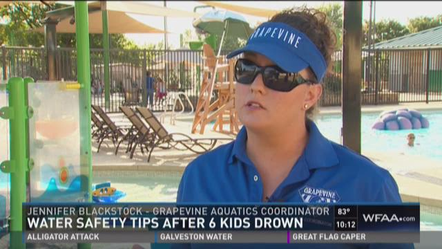 Water safety tips after six drownings in eight days