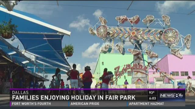 News 8's Jenny Doren reports live from the State Fair of Texas Midway for Fair Park Fourth! News 8's Fair Park Fourth special begins at 9 p.m. Saturday on Channel 8.