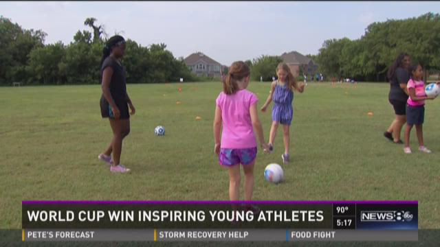 World Cup win inspiring young athletes