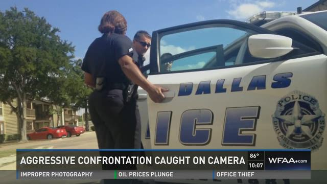 A video recording shows part of the October 1, 2014 confrontation between Dallas police Officer Terigi Rossi and a 14-year-old boy.