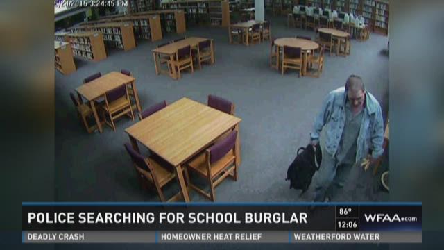 Plano police searching for school burglar