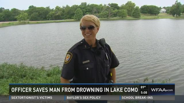 Officer saves man from drowning