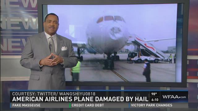 DFW-bound jet lands safely after damage