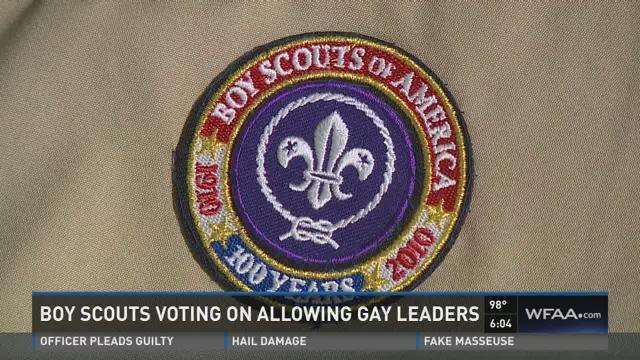 Boy Scouts vote on gay troop leaders