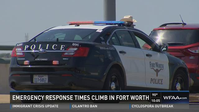 Emergency response times climb in Fort Worth