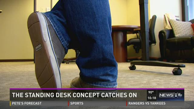 Standing desk concept is catching on
