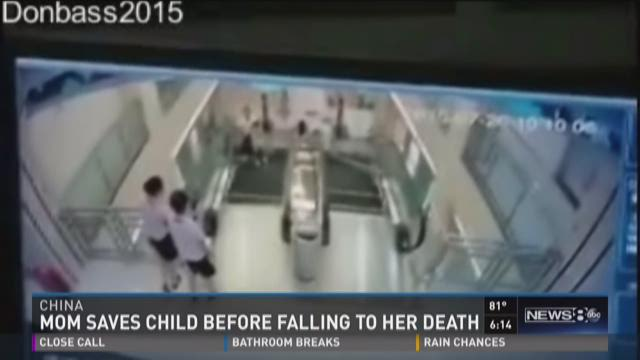 Mom saves son before falling to death