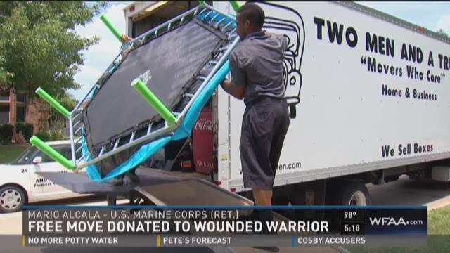 Free move donated to wounded warrior
