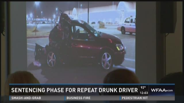 Sentencing phase for repeat drunk driver underway