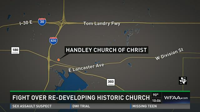 Historic church at center of redevelopment fight