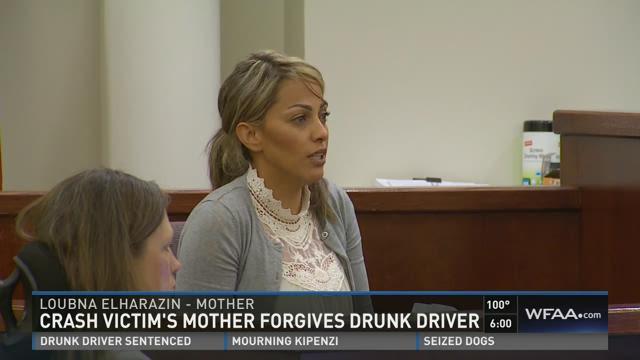 Crash victim's mom forgives drunk driver