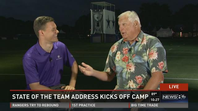 Dale Hansen and Mike Leslie review the opening day of Dallas Cowboys training camp in Oxnard, California.
