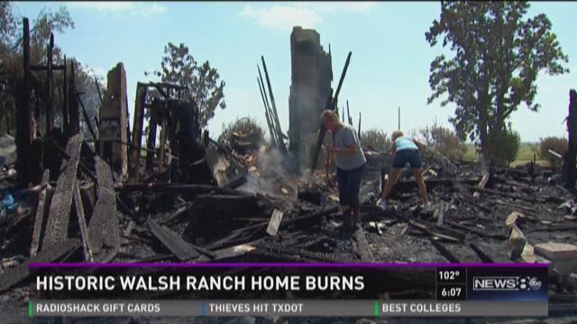 Historic Walsh Ranch home burns