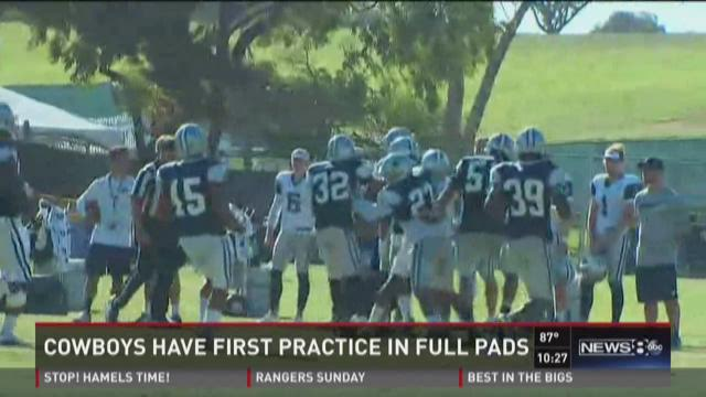 Cowboys have first practice in full pads