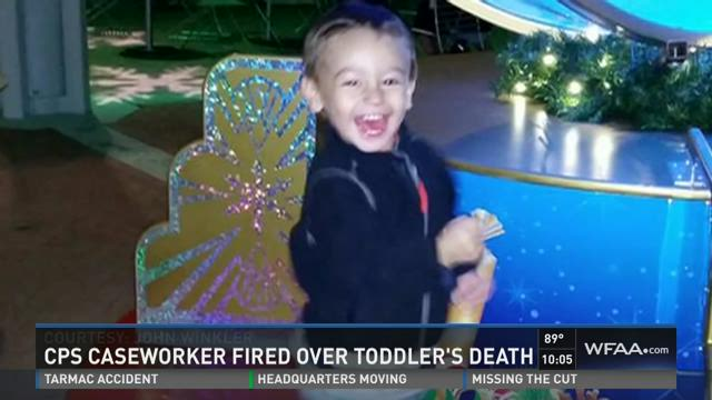 CPS caseworker fired over toddler's death