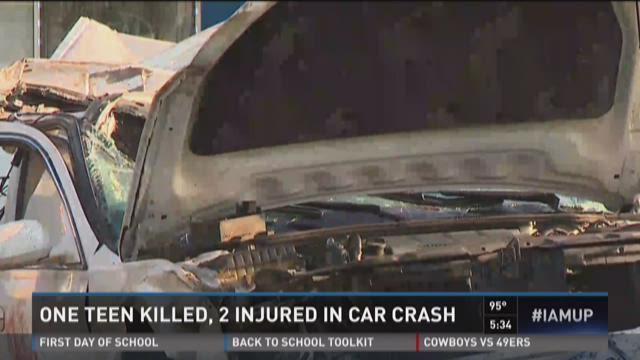 One teen killed, two injured in car crash