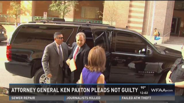 Attorney General Ken Paxton pleads not guilty