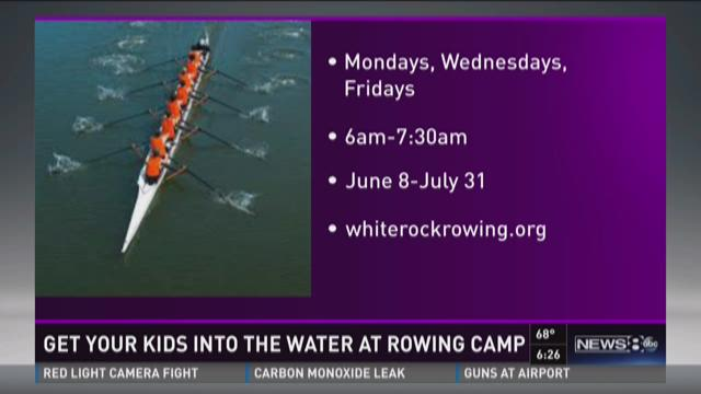 Get the kids in the water with rowing camp