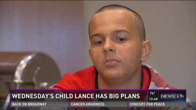 Wednesday's Child: Lance has big plans