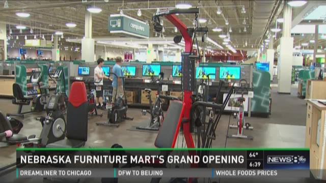 Nebraska Furniture Mart s grand opening