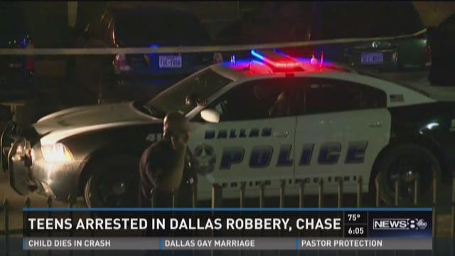 Teen robbery suspects injured during police pursuit