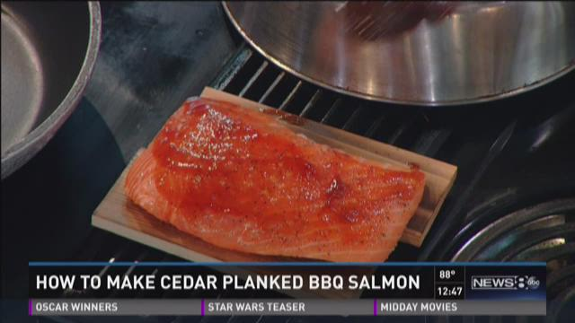 How to make cedar planked BBQ salmon