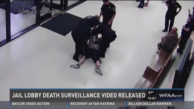 Jail lobby death surveillance video released
